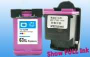 HP 63XL Remanufactured Tri-Color Ink Cartridge High Yield (F6U61AN)